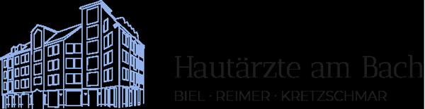 Hautärzte am Bach Bielefeld · Dr. Biel · Reimer · Dr. Kretzschmar · Logo